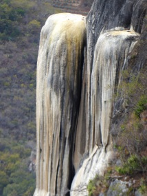 Mexico Petrified waterfall vertical shot Gine